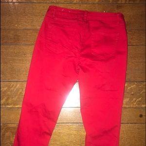 d. jeans Jeans - Red crop jeans